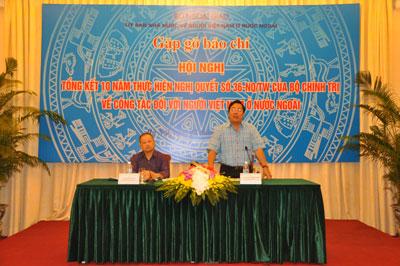 Gặp gỡ báo chí về Hội nghị Tổng kết 10 năm thực hiện Nghị quyết số 36