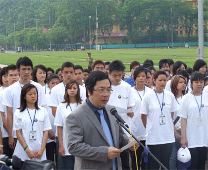 """Khai mạc Trại hè Việt Nam 2009 """"Ngọn đuốc dẫn đường"""" bên lăng Bác Hồ"""