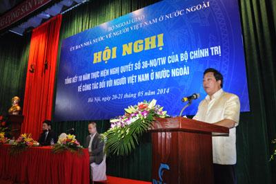 Hội nghị tổng kết 10 năm thực hiện Nghị quyết 36-NQ/TW về công tác đối với người Việt Nam ở nước ngoài