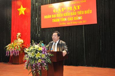 Lãnh đạo tỉnh Cao Bằng gặp mặt Đoàn kiều bào