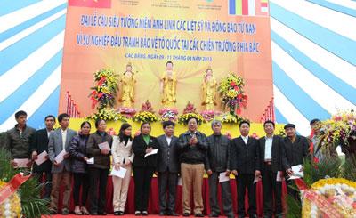 Kiều bào dự Đại lễ cầu siêu tưởng niệm anh linh các liệt sỹ tại Cao Bằng