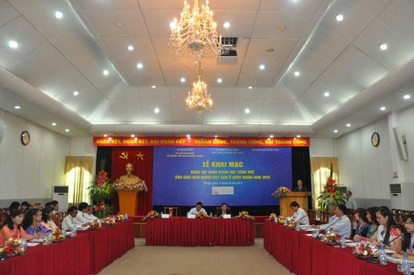 Khai mạc Khóa tập huấn giảng dạy tiếng Việt cho giáo viên người Việt Nam ở nước ngoài