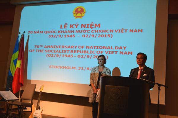 Đại sứ quán Việt Nam tại Thụy Điển kỷ niệm 70 năm Quốc khánh Việt Nam