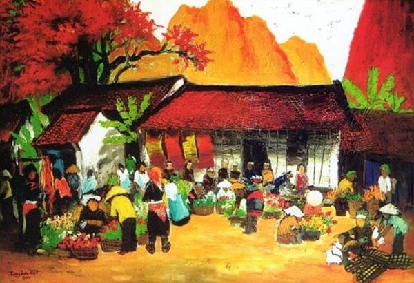 Một góc chợ quê