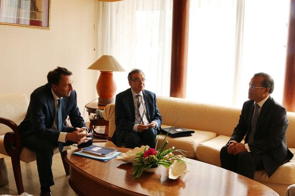 Toàn quyền Pháp tại Nouvelle Calédonie tiếp Thứ trưởng Ngoại giao Vũ Hồng Nam