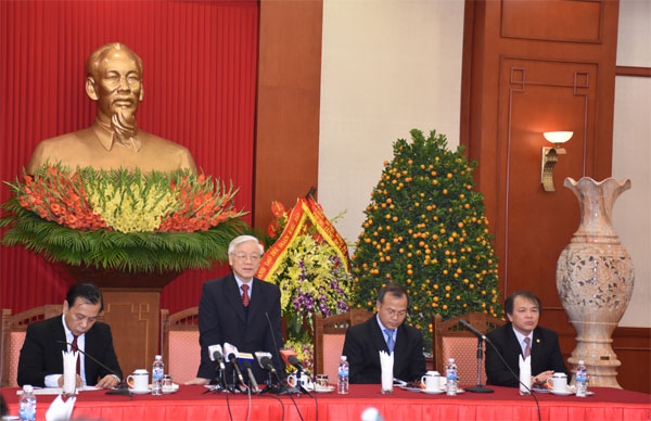 Kiều bào chúc Tết Tổng Bí thư Nguyễn Phú Trọng
