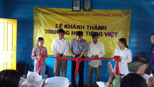 Khánh thành lớp học tại Mạc La, Campuchia