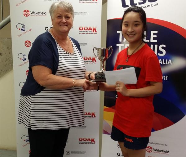 Thái Trịnh Hà My giành Giải Nhất bóng bàn tài năng trẻ vùng South Australia