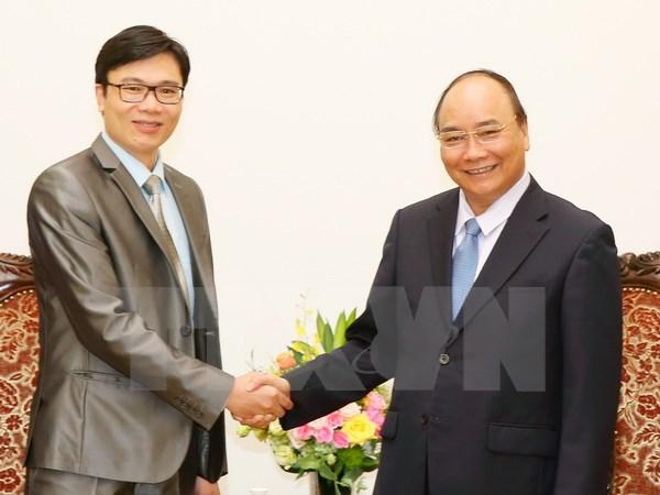 Thủ tướng Nguyễn Xuân Phúc tiếp Giáo sư Nguyễn Đức Khương (Ảnh: Thống Nhất/TTXVN)