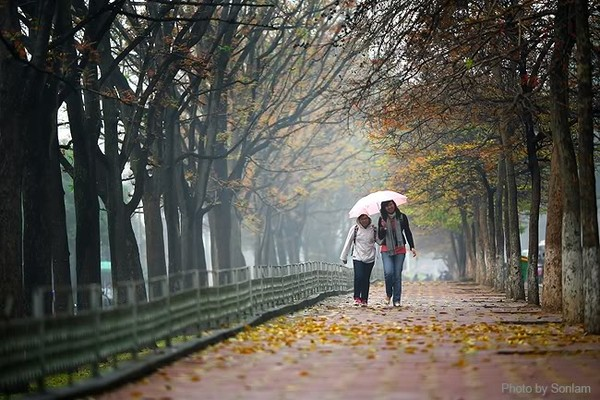 Những con đường tình yêu ấn tượng nhất Hà Nội vào mùa thu