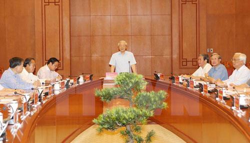 Thông báo cuộc họp Thường trực Ban Chỉ đạo Trung ương về phòng, chống tham nhũng