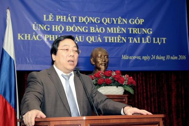 Đại sứ Việt Nam tại Nga phát động ủng hộ đồng bào miền Trung