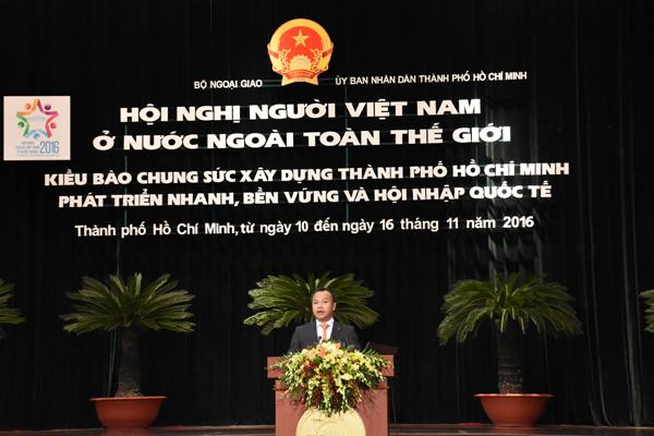Thứ trưởng Vũ Hồng Nam phát biểu giới thiệu Hội nghị