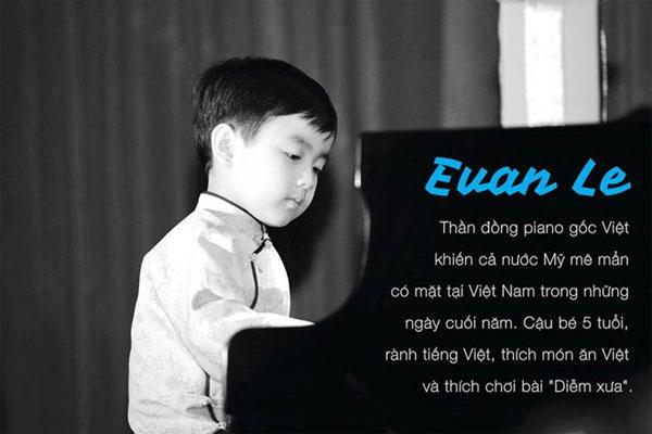 """Thần đồng piano gốc Việt Evan Le: """"Con muốn chơi đàn với Mozart"""""""