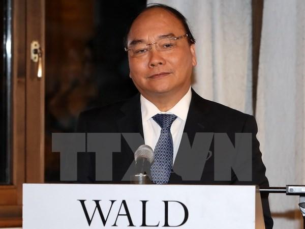 Thủ tướng gặp gỡ báo chí quốc tế bên lề Hội nghị WEF 2017