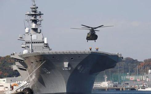 Nhật Bản chuẩn bị đưa tàu chiến lớn nhất vào Biển Đông