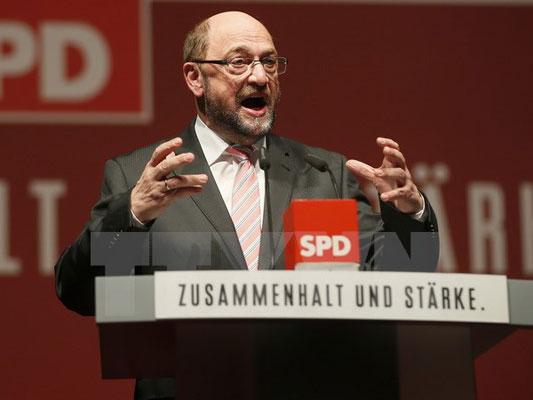 Đảng SPD chọn ông Martin Schulz đua ghế Thủ tướng Đức với bà Merkel