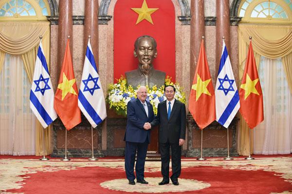 Chủ tịch nước hội đàm với Tổng thống Israel