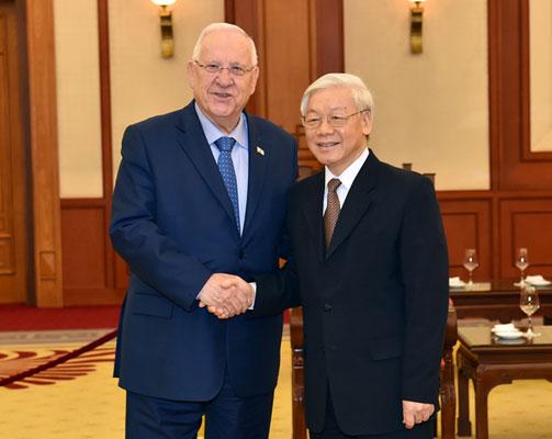 Tổng Bí thư Nguyễn Phú Trọng tiếp Tổng thống Israel