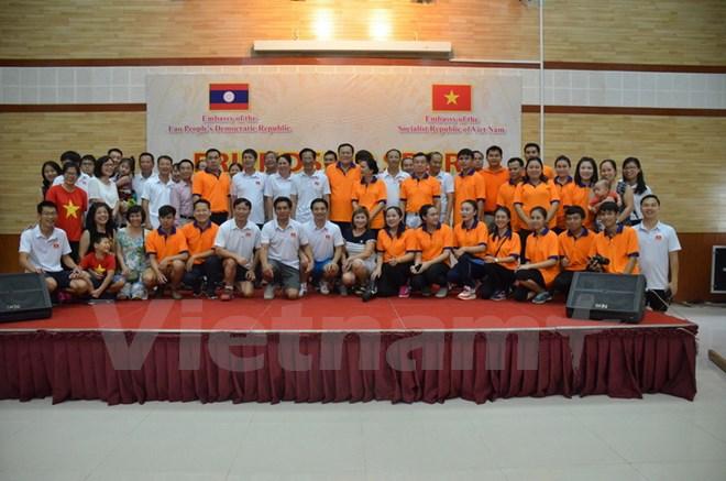Giao lưu hữu nghị giữa Đại sứ quán Việt Nam, Lào tại Campuchia