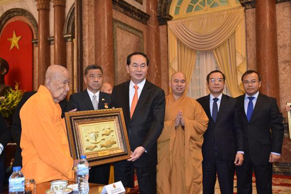 Chủ tịch nước Trần Đại Quang tiếp Đoàn Phật giáo Thái Lan, Phật giáo An Nam Tông Thái Lan và kiều bào tại Thái Lan
