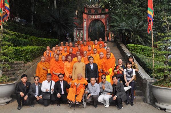 Đoàn Giáo hội Phật giáo Thái Lan, Phật giáo phái An Nam Tông Thái Lan thăm Di tích Đền Hùng, Thiện viện Trúc Lâm Tây Thiên