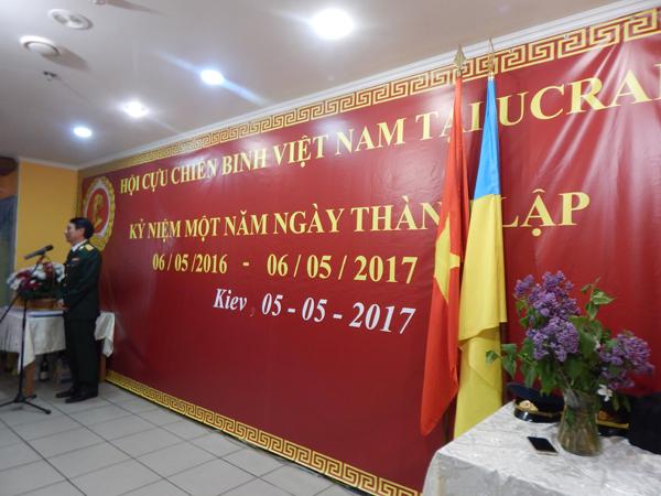 Lễ kỷ niệm 1 năm ngày thành lập Hội Cựu chiến binh Việt Nam tại Ucraina