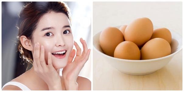 Da trắng sáng, mịn màng nhờ 1 quả trứng gà