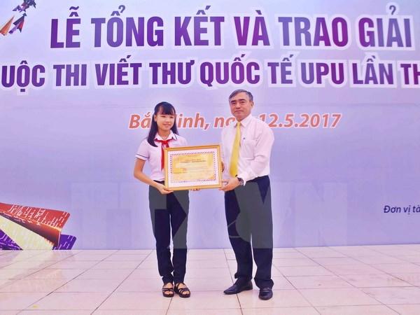 Kỷ niệm 30 năm Việt Nam tham gia Cuộc thi viết thư quốc tế UPU