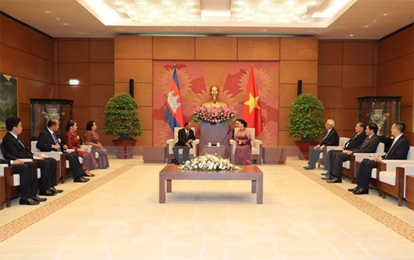 Chủ tịch Quốc hội Campuchia kết thúc tốt đẹp chuyến thăm Việt Nam