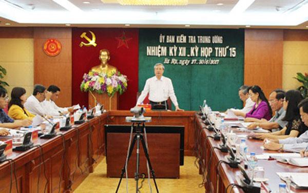 Ủy ban Kiểm tra Trung ương họp kỳ thứ 15