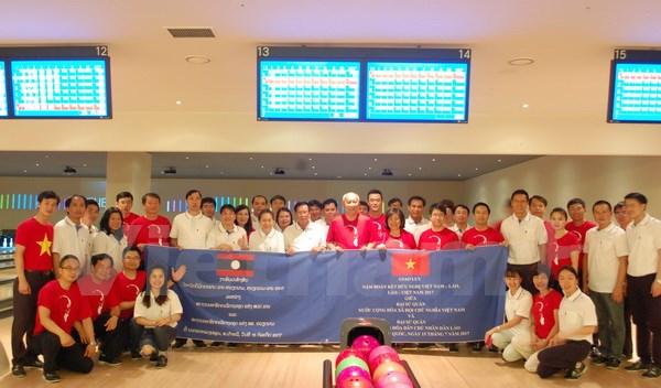 Giao lưu hữu nghị giữa Đại sứ quán Việt Nam và Lào tại Hàn Quốc