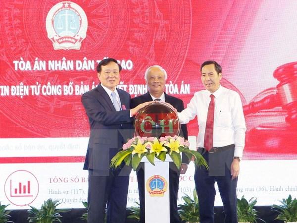 Khai trương Trang thông tin điện tử công bố bản án của Tòa án