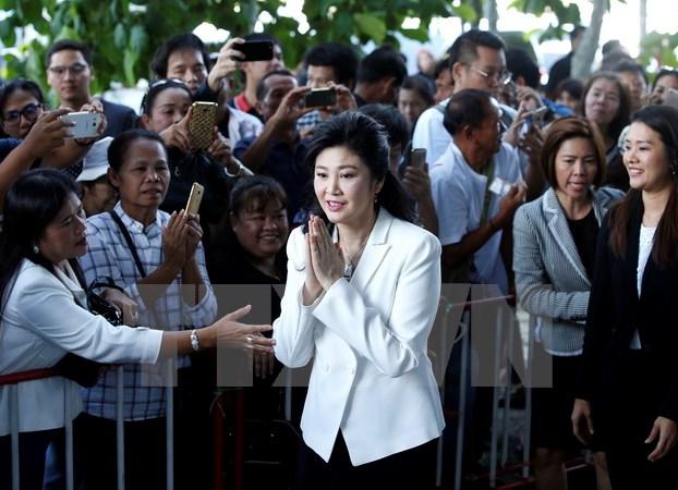 Cựu Thủ tướng Thái Lan Yingluck Shinawatra ra tòa để lấy lời khai