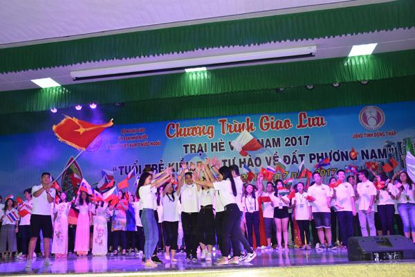 Đại biểu Trại hè Việt Nam 2017 giao lưu với thanh niên tỉnh Đồng Tháp
