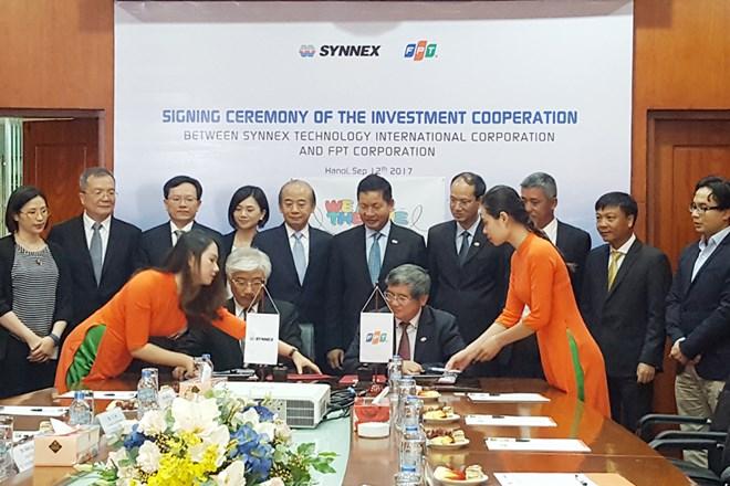 Synnex sở hữu 47% vốn điều lệ tại công ty phân phối của FPT