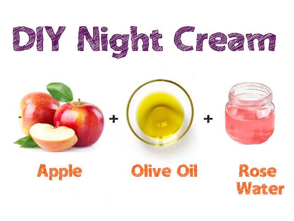 Công thức tự chế kem dưỡng da ban đêm từ táo