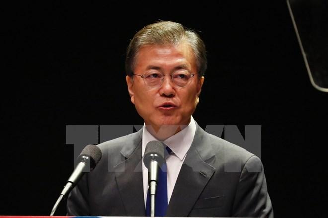 """Tổng thống Hàn Quốc khẳng định """"không thể đối thoại"""" với Triều Tiên"""