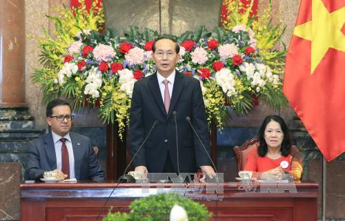 Chủ tịch nước tiếp đoàn đại biểu Hội Chữ thập đỏ-Trăng lưỡi liềm đỏ