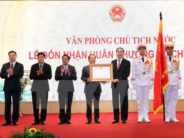 Chủ tịch nước dự kỷ niệm 25 năm tái lập Văn phòng Chủ tịch nước