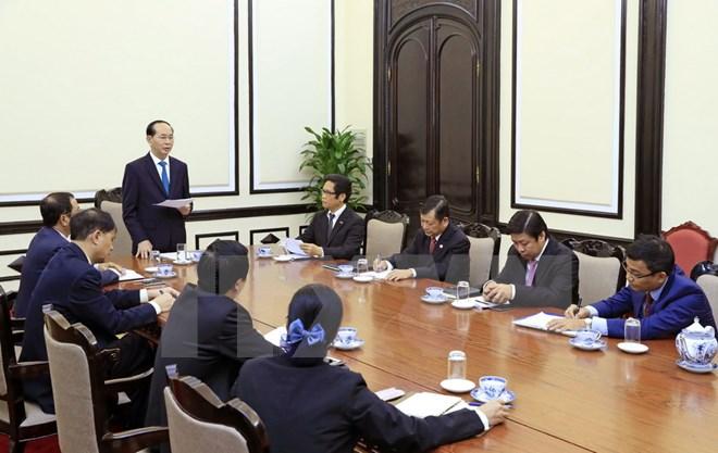 Chủ tịch nước làm việc với Hội đồng Tư vấn kinh doanh APEC