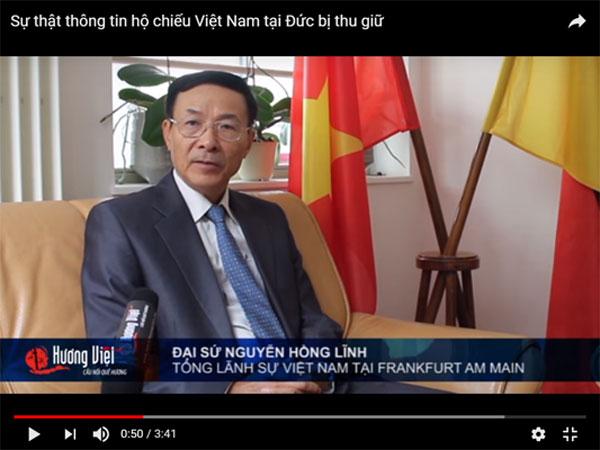 Sự thật thông tin hộ chiếu Việt Nam tại Đức bị thu giữ