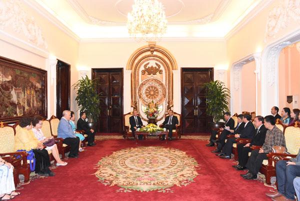 Thứ trưởng Vũ Hồng Nam tiếp ông Cao Văn San và Đoàn Cảnh sát Thái Lan