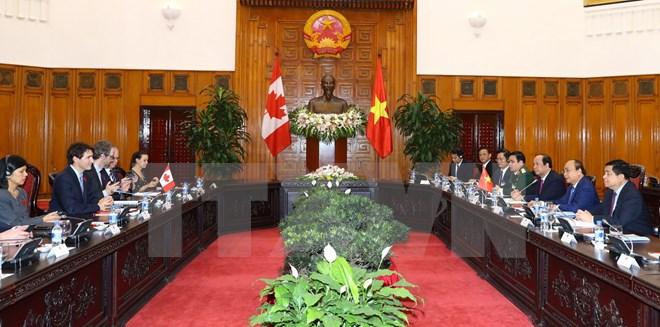 Lãnh đạo Việt Nam-Canada nhất trí xác lập quan hệ Đối tác toàn diện