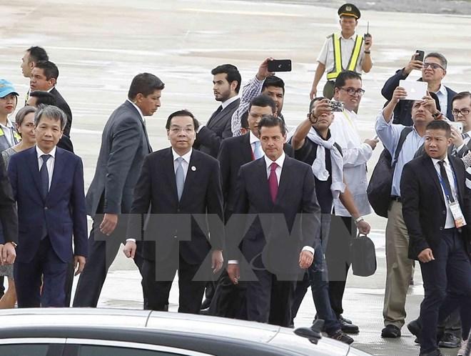 Chủ tịch nước Trần Đại Quang gặp song phương Tổng thống Mexico