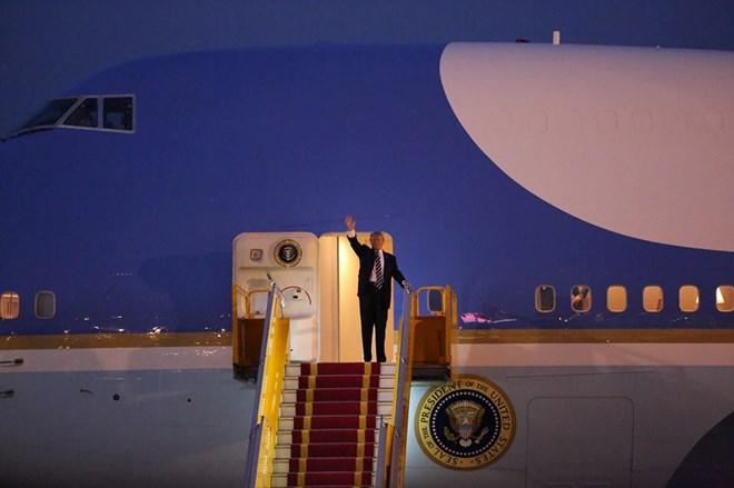Tổng thống Hoa Kỳ Donald Trump đã có mặt tại Thủ đô Hà Nội