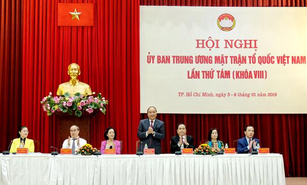 Thủ tướng: Chính phủ ủng hộ hoàn toàn chương trình chống tham nhũng của MTTQ