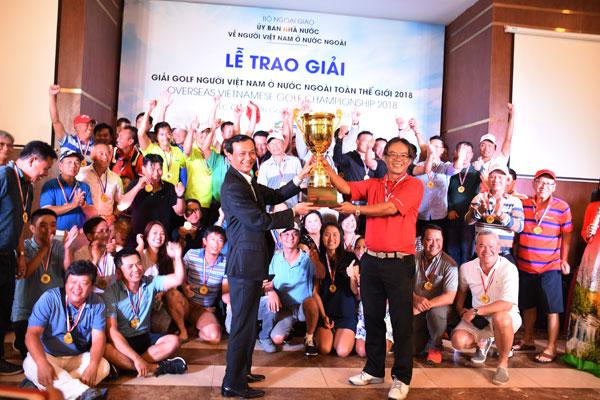 Ryder Cup Giải Golf người Việt Nam ở nước ngoài toàn thế giới 2018 đã có chủ nhân