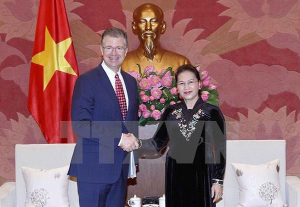 Chủ tịch Quốc hội Nguyễn Thị Kim Ngân tiếp Đại sứ Hoa Kỳ