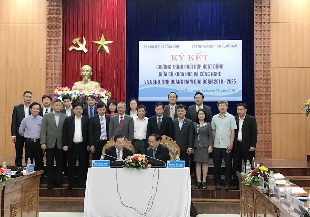 Quảng Nam và Bộ KH&CN ký chương trình hợp tác